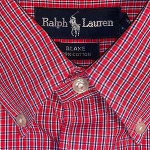Ralph Lauren Long Sleeve Casual Button Down Plaid